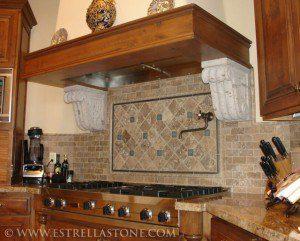 finish a custom kitchen cabinet hood