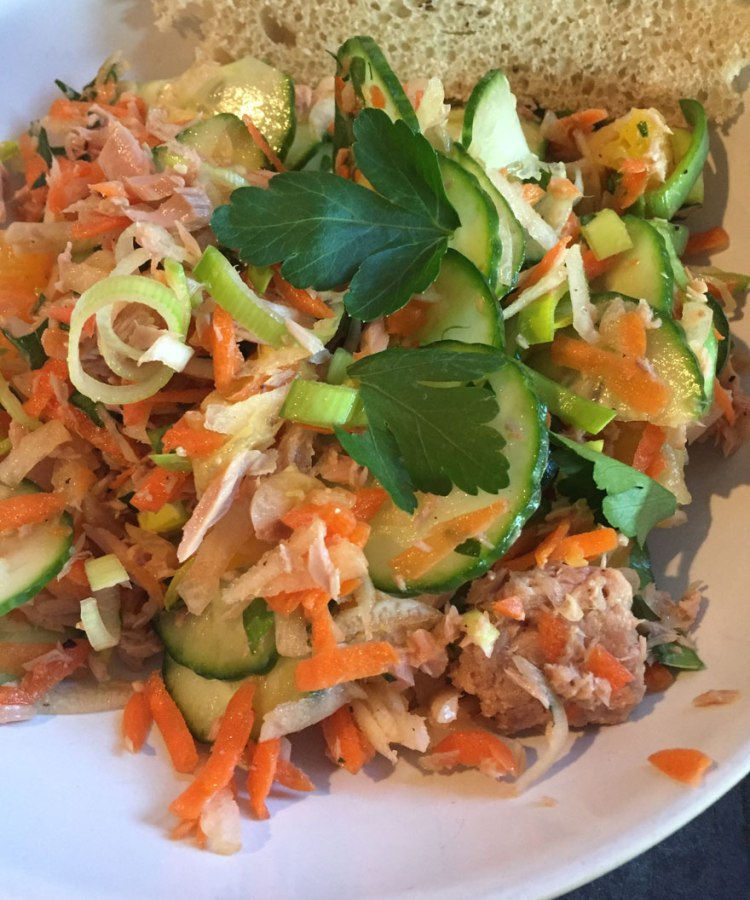 tuna salad with a twist