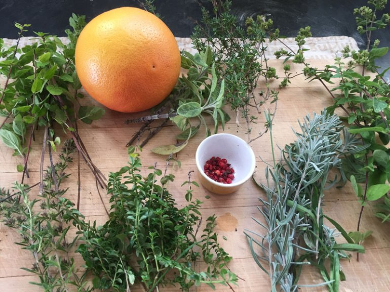 Herbs for homemade amaro