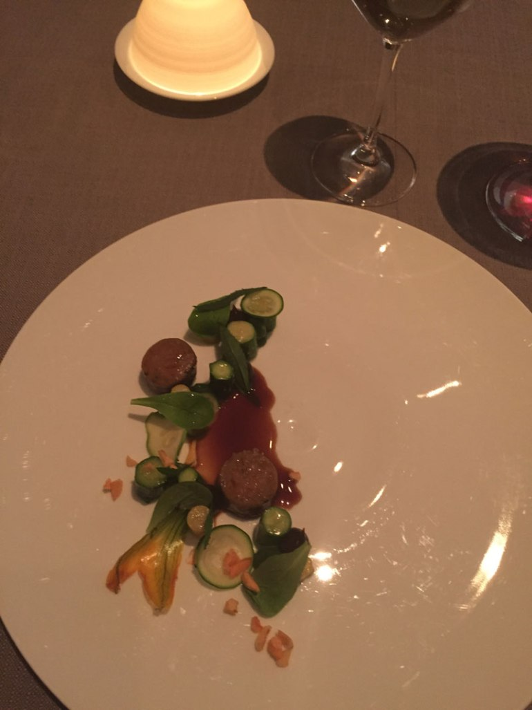 Lamb and zucchinie at Grace