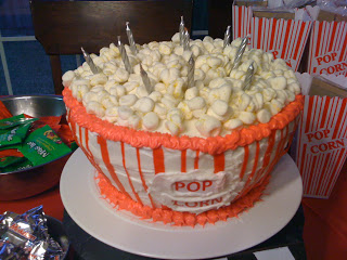 Popcorn Cake For Movie Party Or Red Carpet