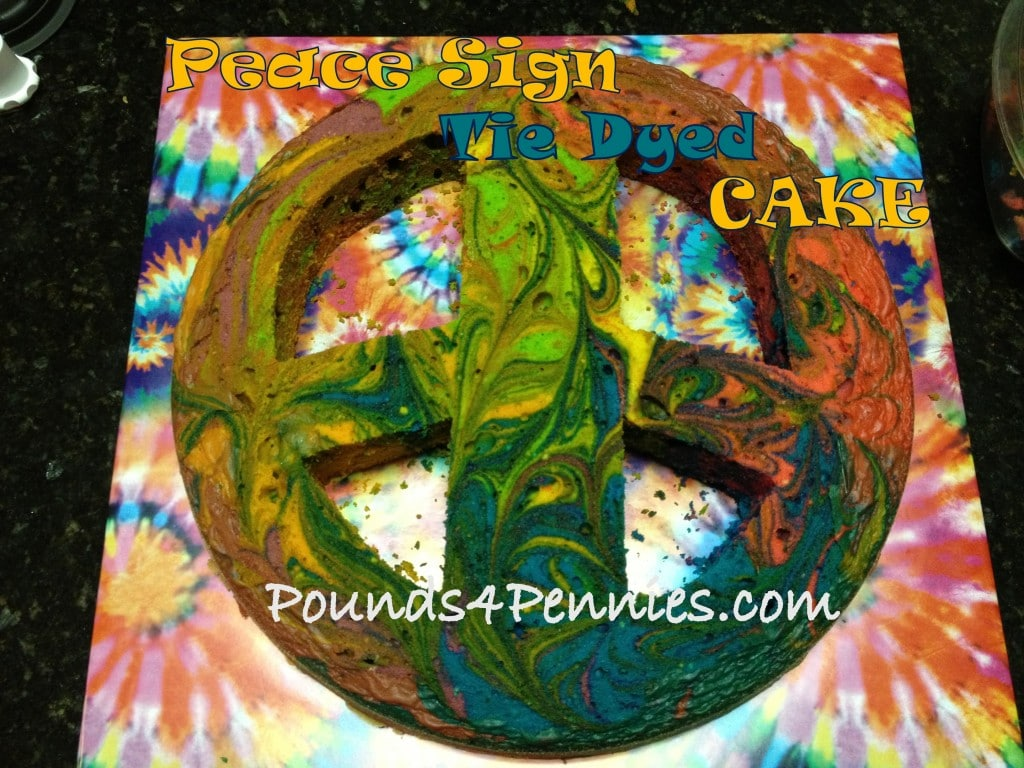 Peace Sign Tie Dye Cake Super Easy To Make For A