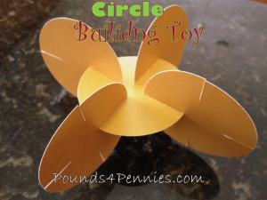 Building a Tower: Paper Circle Toy DIY