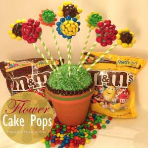 Baking with M&M's: Flower Cake Pops Bouquet