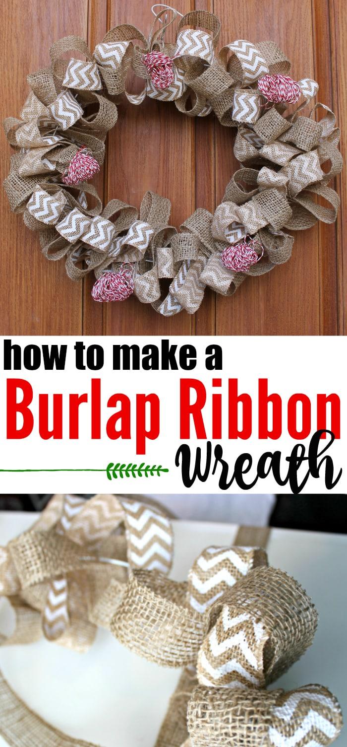 Ribbon Burlap Wreath
