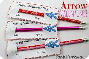 Easy Handmade Valentine Cards: Valentine Arrows