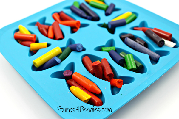 Crayons in Fish Valentine mold