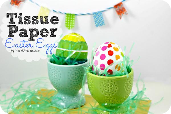 Easy Tissue Paper Easter Eggs