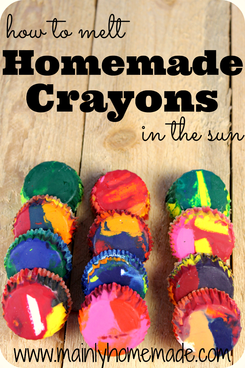 How to make Homemade Crayons in the sun