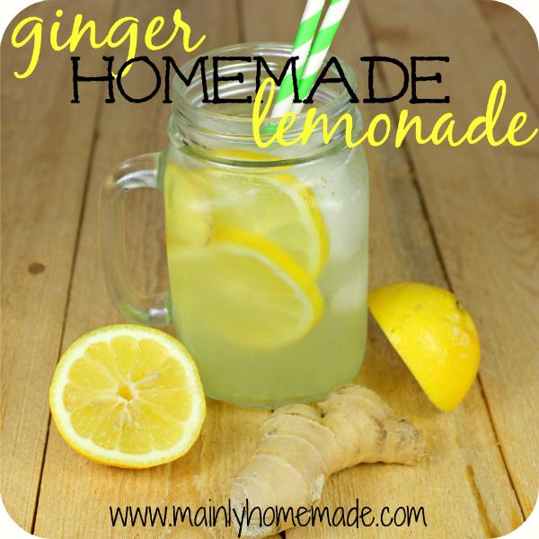 Homemade Ginger Lemonade Recipe