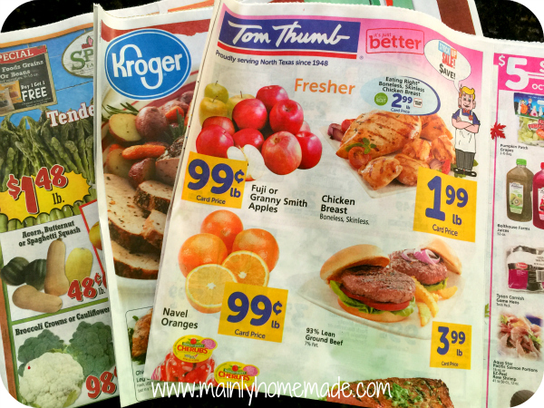 cut your grocery bill in half with sales flyers