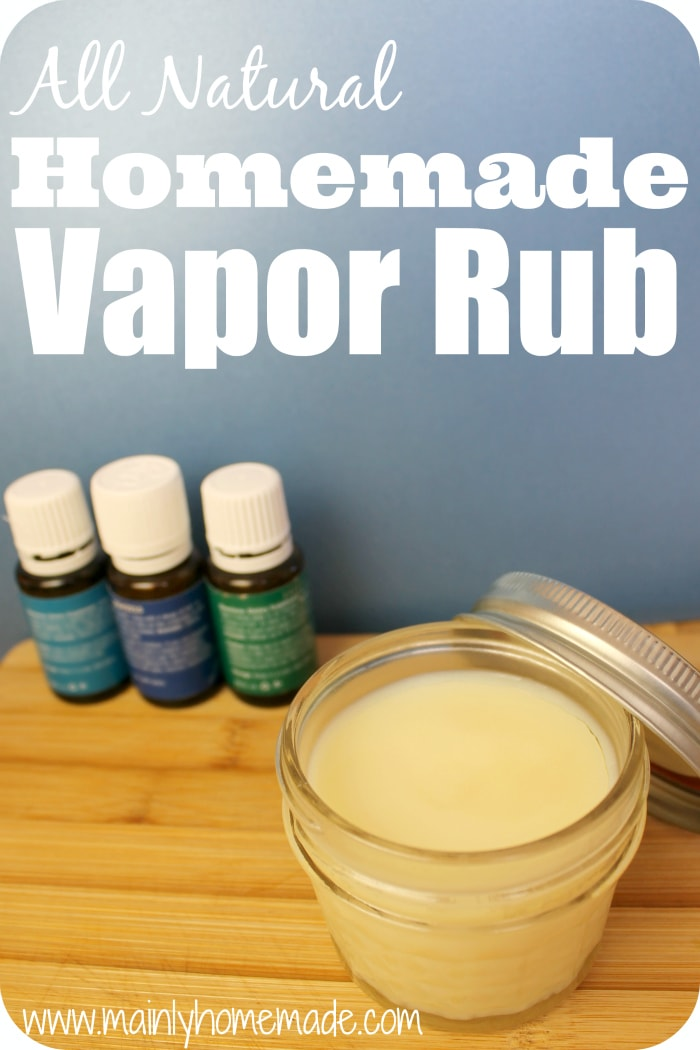 All natural Homemade Vapor Rub 1