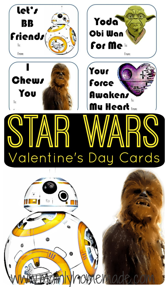 Star Wars Valentine's Day Cards Printable