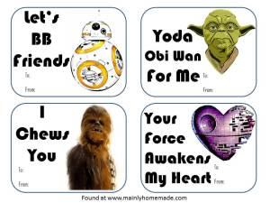 Star Wars Valentines day cards