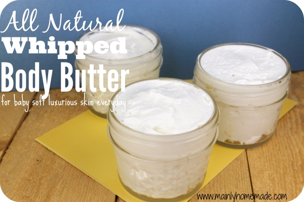 All Natural homemade whipped body butter
