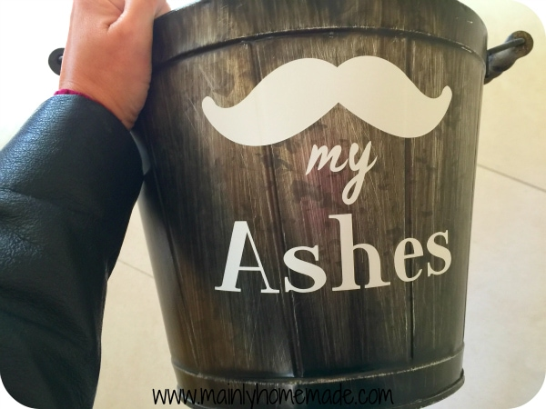 Ash Bucket for the Fireplace Bucket with vinyl