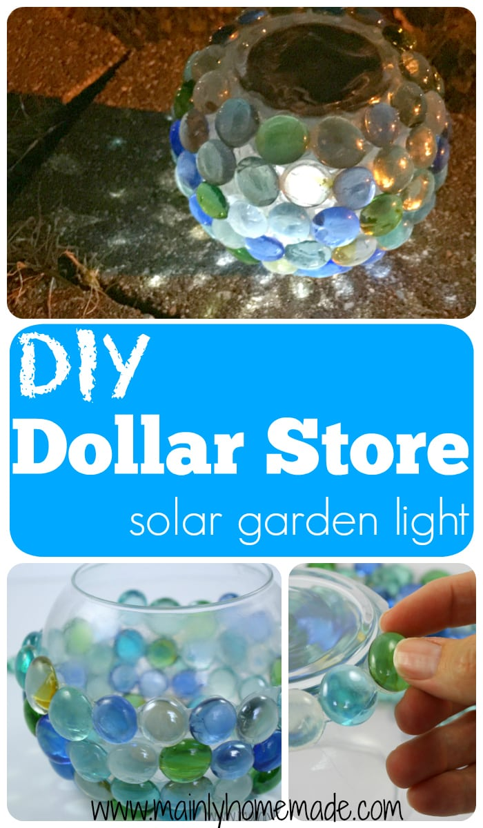 DIY solar garden globe light