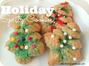 Holiday Spritz Cookies