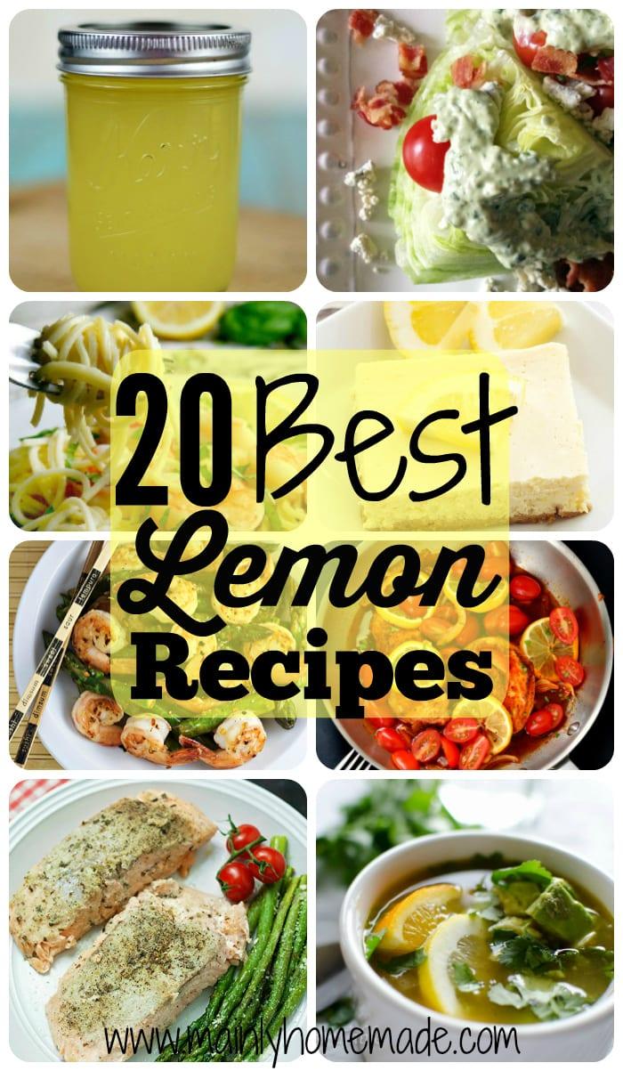 20 Best Lemon Recipes