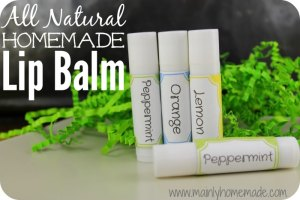 Homemade Lip Balm 3 Flavors