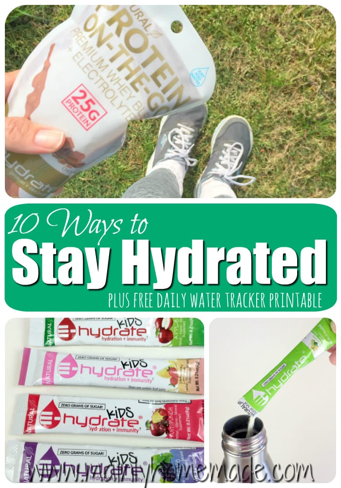 how to stay well hydrated
