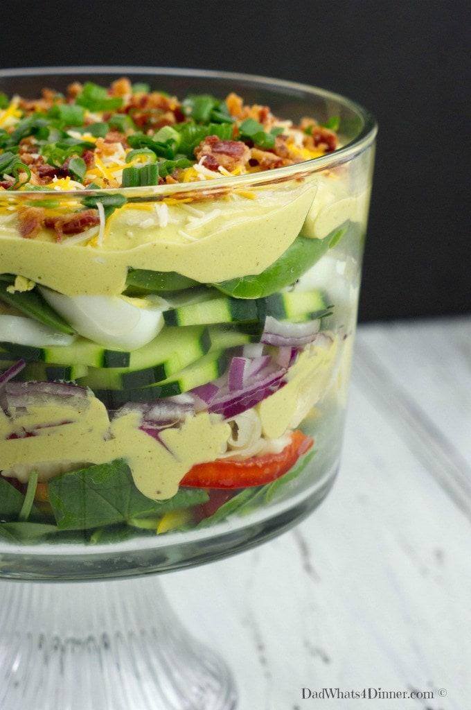 Creamy-Deviled-Egg-Layered-Pasta-Salad