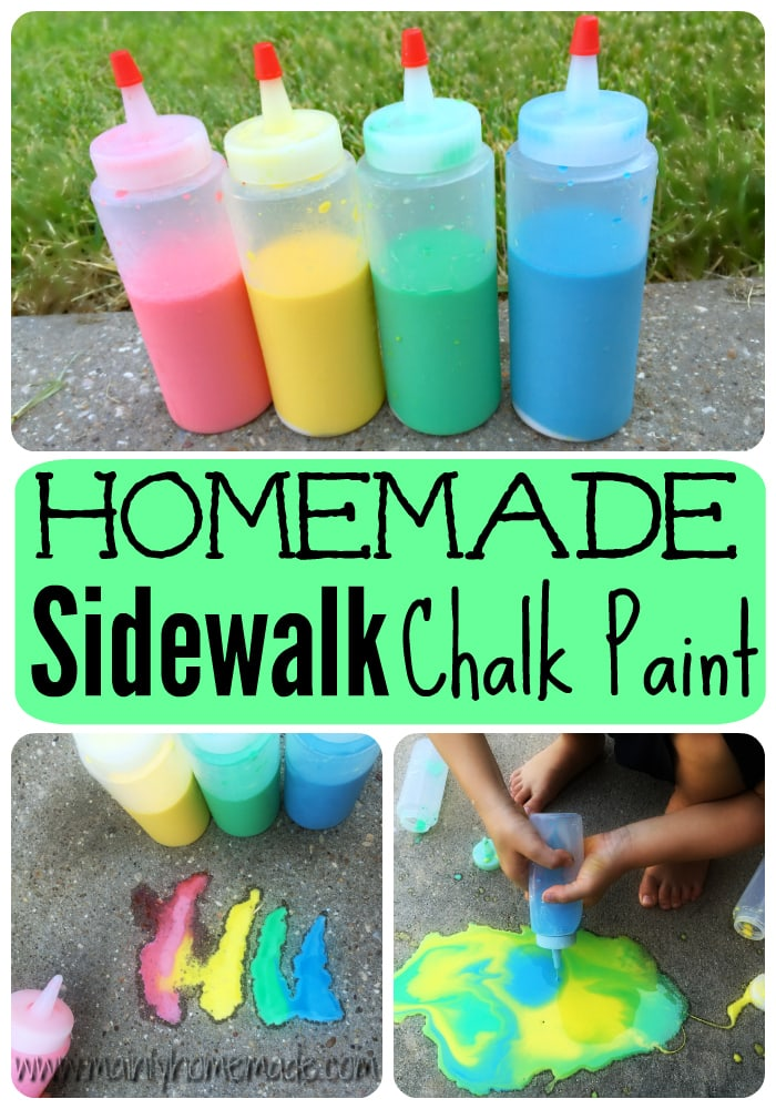 Easy Homemade Sidewalk Chalk Paint