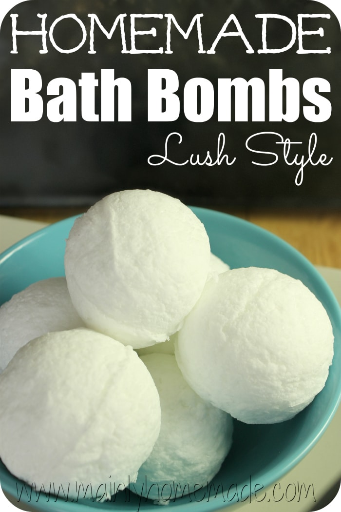 Lush Style homemade bath Bomb Recipe