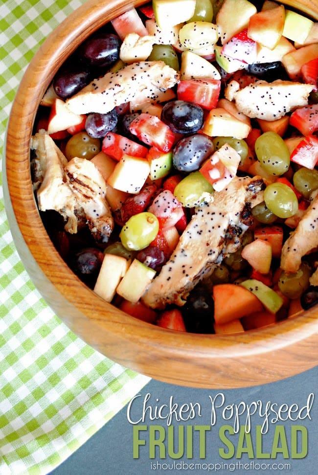 chicken poppyseed fruit salad