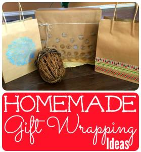Homemade gift wrapping ideas