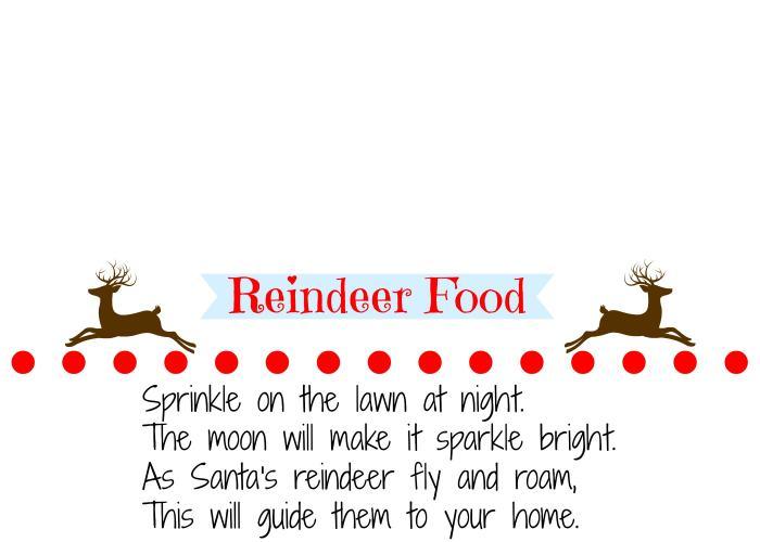 Homemade Reindeer Food Printable