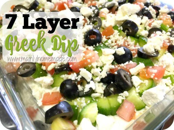 Easy 7 Layer Greek Dip