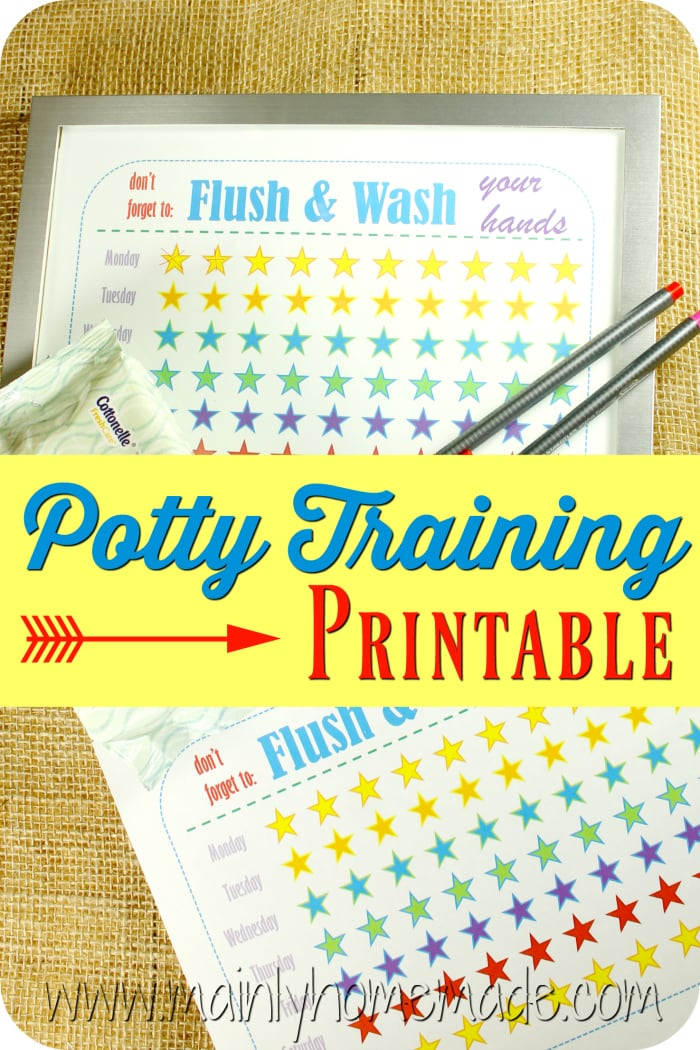 Potty training tips with pritable