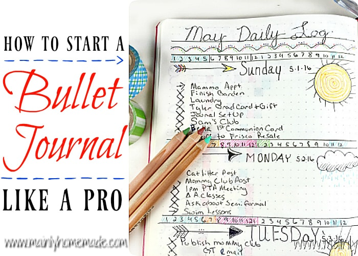 Learn How to Start a Bullet Journal Like a Pro
