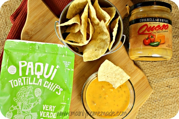 Texas Queso and Tortilla Chips