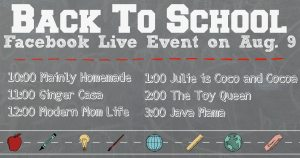 Back to school FB Live Event