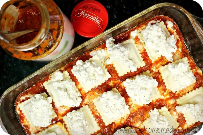 Ravioli Bake Cheesy layer 2