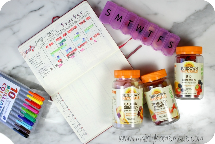 Healthy Lifestyle Vitamin Tracker
