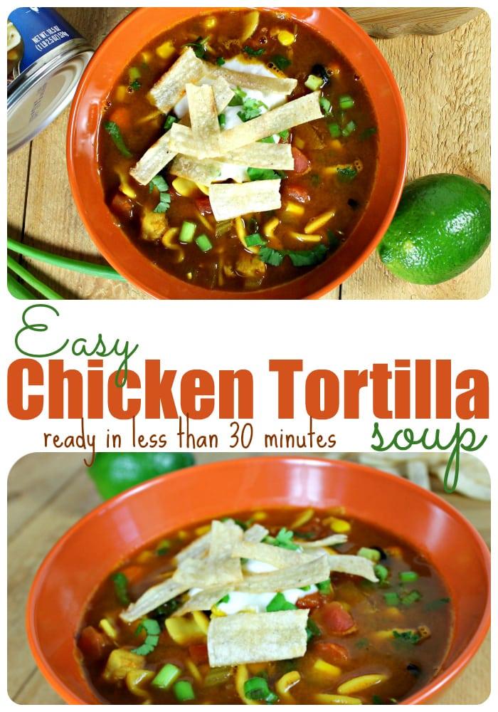 Easy Chicken Tortilla Soup Recipe in Minutes