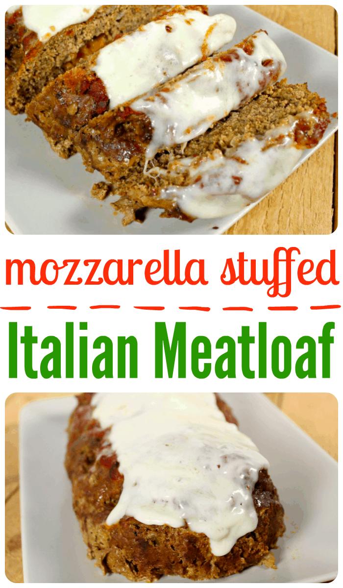 mozzarella stuffed italian meatloaf