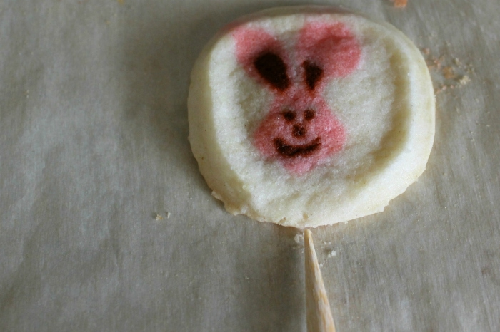 Inserting Stick into cookie