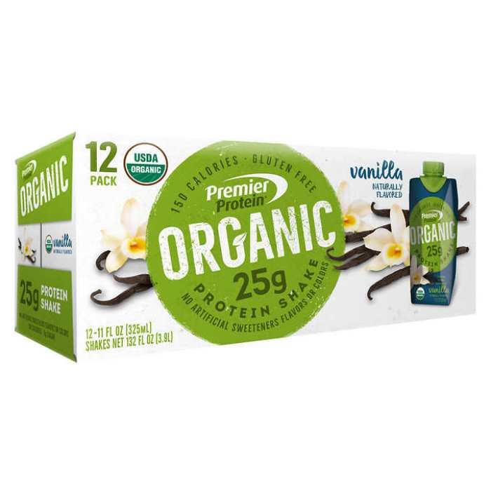 Premier Protein Organic Box