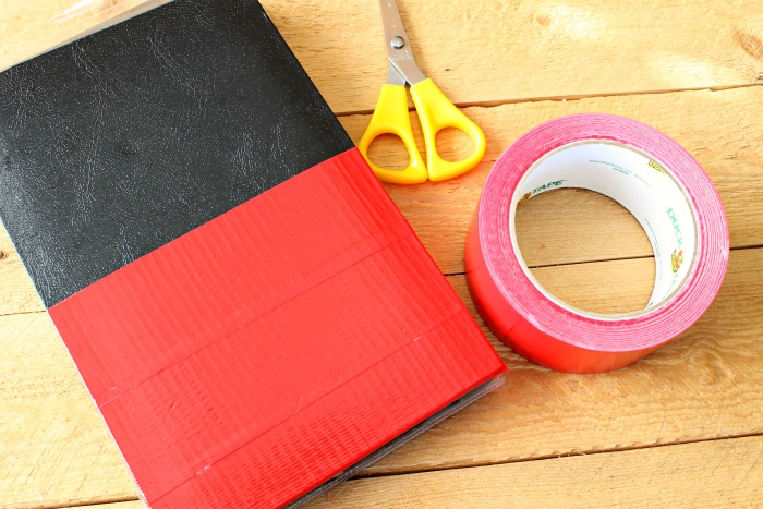 DIY Autograph Book Duck Tape Red