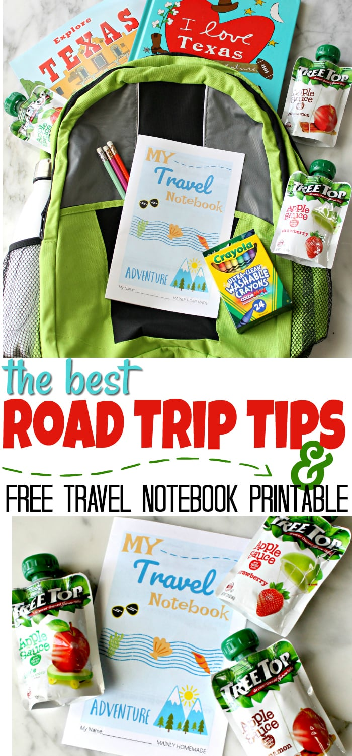 Best Road Trip Tips with Kids Travel Notebook