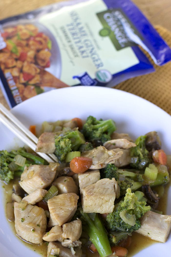 vegetable chicken teriyaki