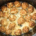 slow cooker homemade meatballs done 1