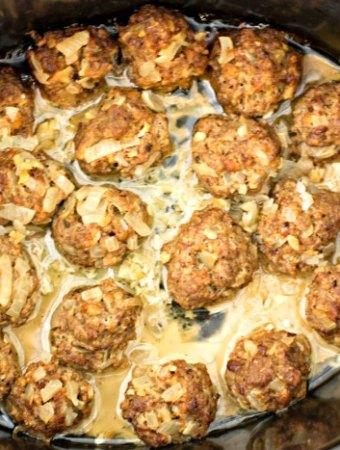 Easy Slow Cooker Homemade Meatballs Recipe