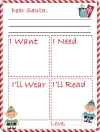 Santa letter small