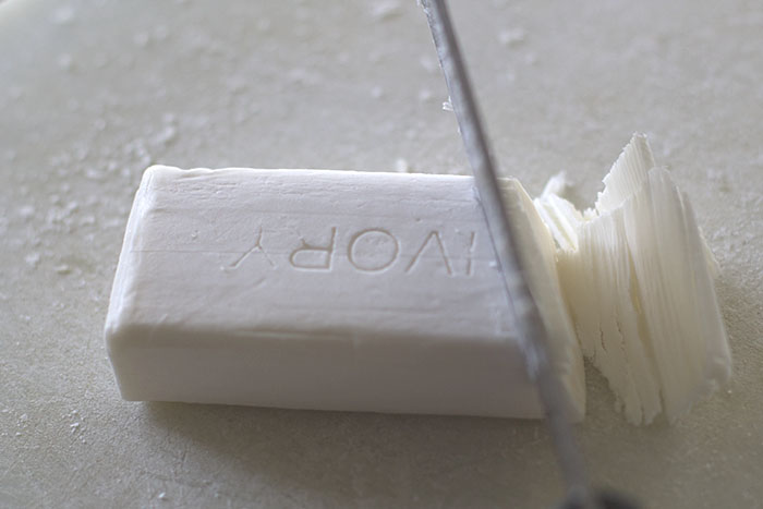 Cutting soap for hand milled soap