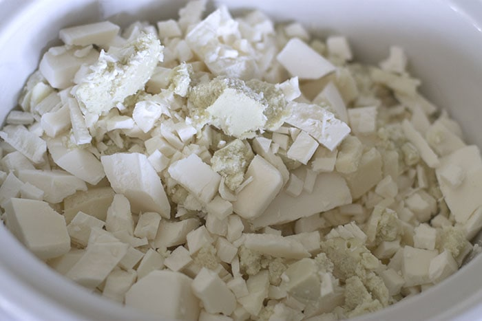 Grated soap for hand milled soap